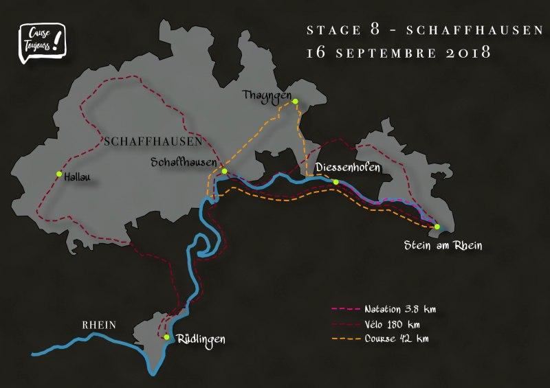 Strecke Schaffhausen